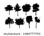 isolated of trees on the white ... | Shutterstock .eps vector #1484777792