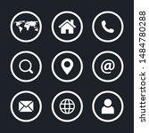 web icon set vector illustration | Shutterstock .eps vector #1484780288