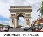 arc de triomphe in paris....   Shutterstock . vector #1484787338