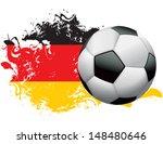 soccer ball with a grunge flag...   Shutterstock .eps vector #148480646