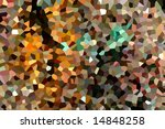 Mosaic pattern of crystallized structure - stock photo