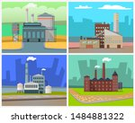 industrial enterprises vector ... | Shutterstock .eps vector #1484881322