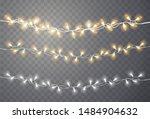 christmas lights. xmas string ... | Shutterstock .eps vector #1484904632