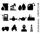 oil icons vector set. barrel... | Shutterstock .eps vector #1484911148