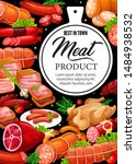 meat products and gourmet... | Shutterstock .eps vector #1484938532