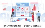 seo analytics team it... | Shutterstock .eps vector #1484948588