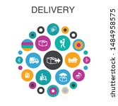 delivery infographic circle...