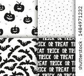 halloween  bat and pumpkin... | Shutterstock .eps vector #1484971232