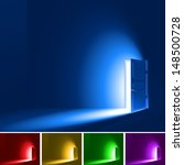 light in a room through the... | Shutterstock .eps vector #148500728