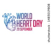 world heart day. vector... | Shutterstock .eps vector #1485019808