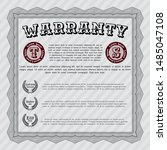 grey warranty. customizable ... | Shutterstock .eps vector #1485047108