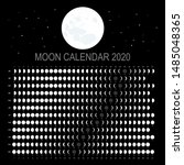 moon calendar 2020  english... | Shutterstock .eps vector #1485048365