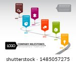 infographic timeline template... | Shutterstock .eps vector #1485057275