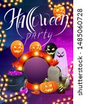 halloween party  beautiful... | Shutterstock .eps vector #1485060728