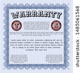 blue vintage warranty... | Shutterstock .eps vector #1485061568
