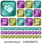 love and dating button set | Shutterstock .eps vector #148508075