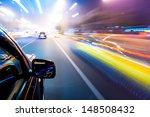 car driving fast | Shutterstock . vector #148508432
