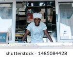 Cheerful African American Man...
