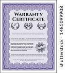 violet vintage warranty... | Shutterstock .eps vector #1485099908
