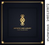 artistic and luxury logo. can... | Shutterstock .eps vector #1485135872