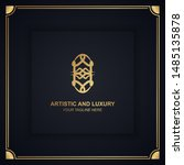 artistic and luxury logo. can... | Shutterstock .eps vector #1485135878