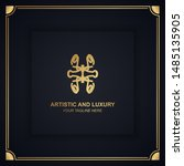 artistic and luxury logo. can... | Shutterstock .eps vector #1485135905