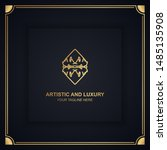 artistic and luxury logo. can... | Shutterstock .eps vector #1485135908