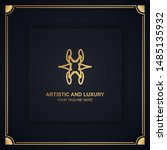 artistic and luxury logo. can... | Shutterstock .eps vector #1485135932
