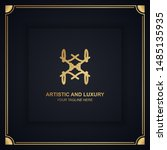 artistic and luxury logo. can... | Shutterstock .eps vector #1485135935