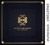artistic and luxury logo. can... | Shutterstock .eps vector #1485135965
