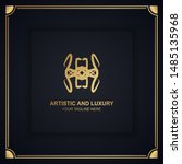 artistic and luxury logo. can... | Shutterstock .eps vector #1485135968