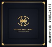 artistic and luxury logo. can... | Shutterstock .eps vector #1485136895