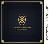 artistic and luxury logo. can... | Shutterstock .eps vector #1485136898