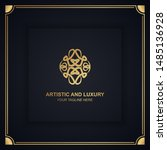 artistic and luxury logo. can... | Shutterstock .eps vector #1485136928