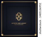 artistic and luxury logo. can... | Shutterstock .eps vector #1485136952
