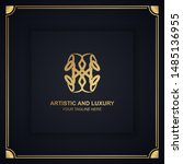 artistic and luxury logo. can... | Shutterstock .eps vector #1485136955