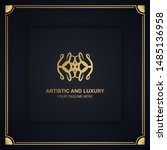 artistic and luxury logo. can... | Shutterstock .eps vector #1485136958