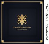 artistic and luxury logo. can... | Shutterstock .eps vector #1485136982