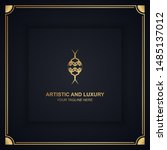 artistic and luxury logo. can... | Shutterstock .eps vector #1485137012