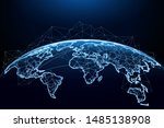 abstract of world network ... | Shutterstock .eps vector #1485138908