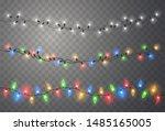 christmas lights. xmas string ... | Shutterstock .eps vector #1485165005