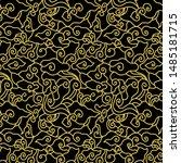 minimalist pattern megamendung...   Shutterstock .eps vector #1485181715