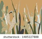 vector floral summer horizontal ...   Shutterstock .eps vector #1485227888
