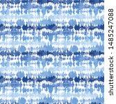 indigo blue shibori tie dye... | Shutterstock .eps vector #1485247088