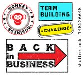 business retro grungy stamps... | Shutterstock .eps vector #148526648
