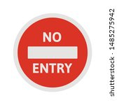 No Entry Traffic Sign. Red Sto...