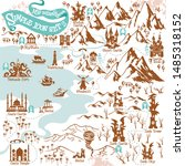 fantasy adventure map builder...   Shutterstock .eps vector #1485318152
