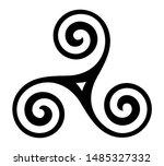 vector breton and celtic... | Shutterstock .eps vector #1485327332