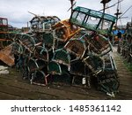 Lobster And Crab Nets Piled Up...