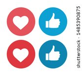 thumb up and heart icon. vector ...